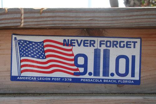 Never Forget 9/11, Pensacola Beach Florida, USA