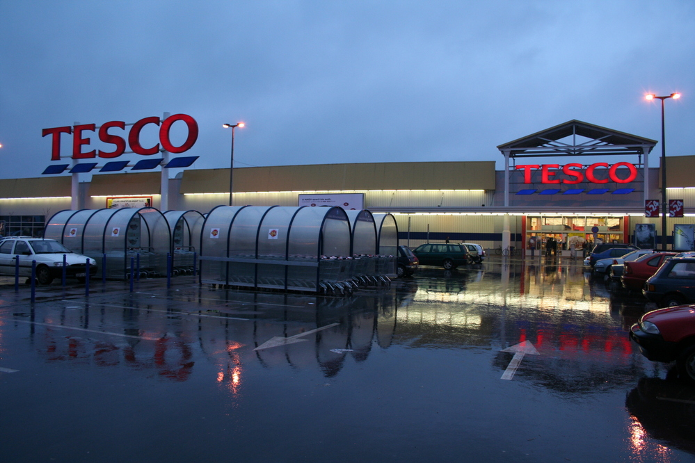 Tescos, Szeged Hungary, one of Tescos new stores in the new EU member states
