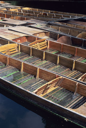 Punts on River Isis, Oxford UK