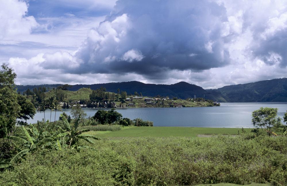 Rainclouds over Lake Toba Sumatra