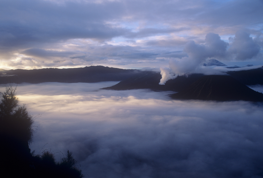 Smoking central cone, Bromo Volcano, Java