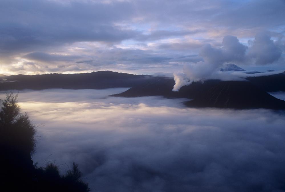Smoking central cone, Bromo Volcano, Java