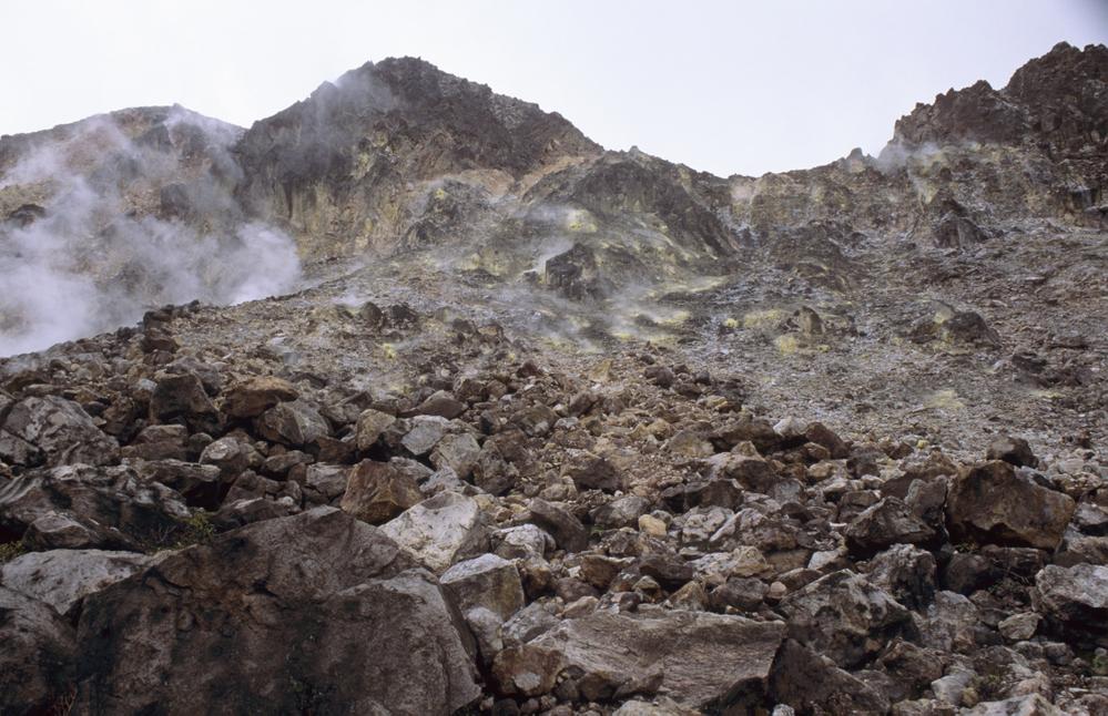 Sibayak Volcano, Sumatra. Near Berastagi. Sumatra