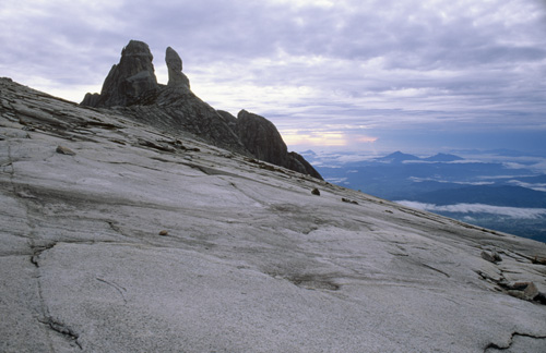Dawn on Donkey's Ears Peaks at just over 4000m. Mount Kinabalu, Borneo Malaysia