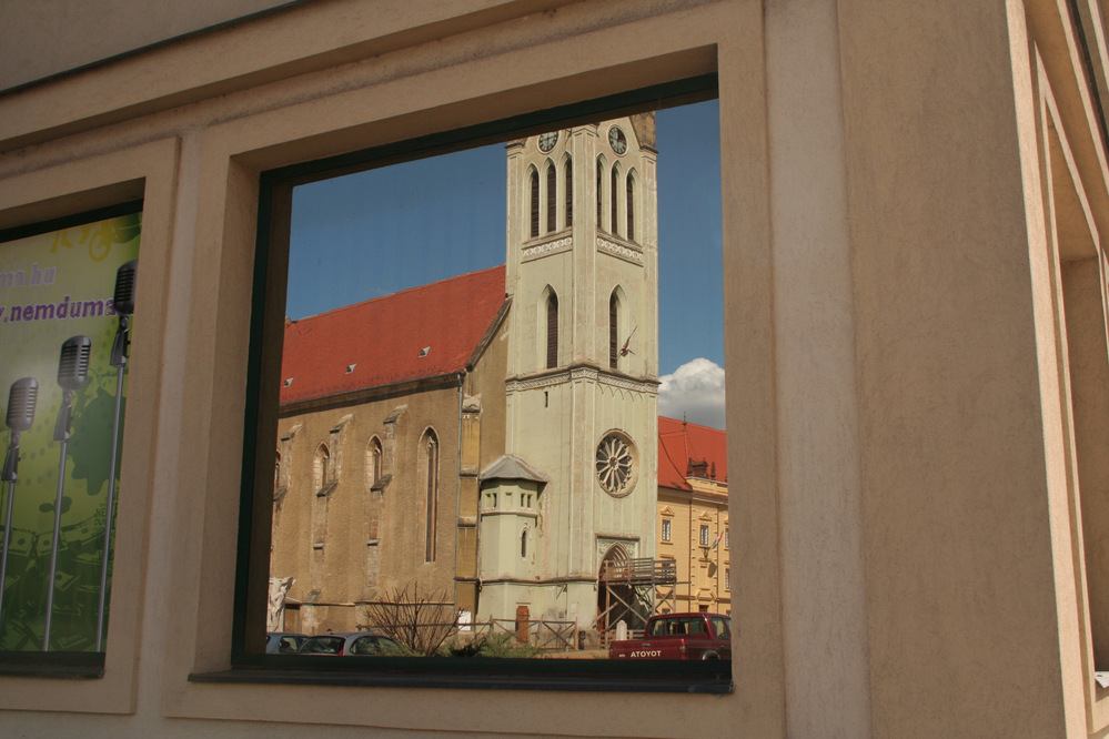 Reflection in window, Keszthely, Balaton, Hungary