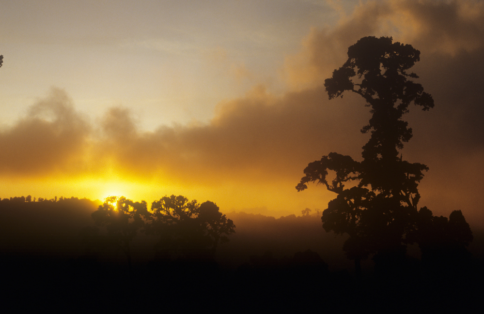 Sunset in Talamanca Mountains south of San Jose, Costa Rica