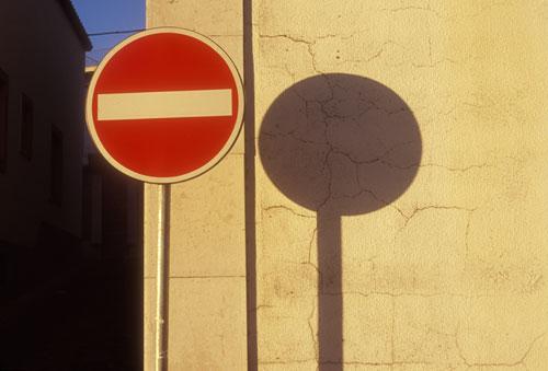 Stop sign Palmela Portugal