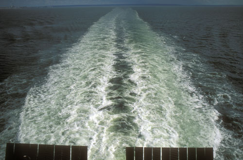 Ferry, English Channel Near Le Havre France
