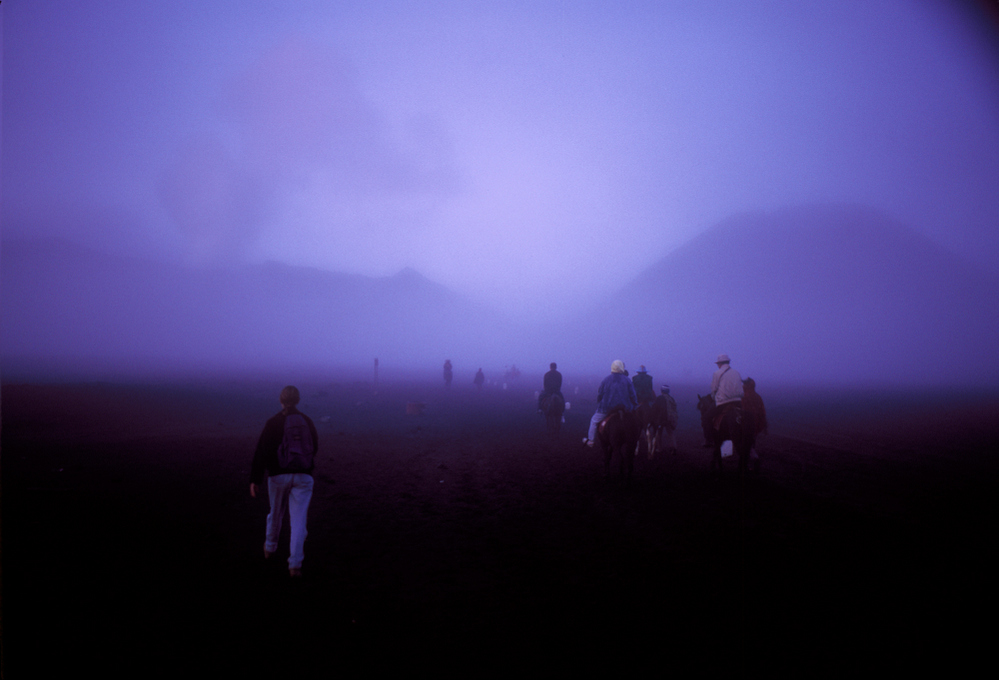 Walk to Mount Bromo Bromo, Java Indonesia