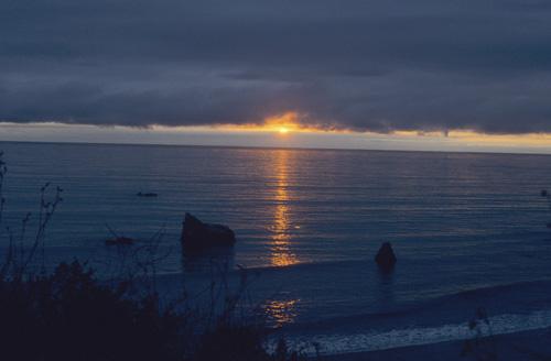 Sunset over the Pacific. Leggett California USA