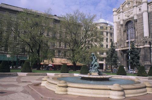Vorosmarty Square, Budapest Hungary