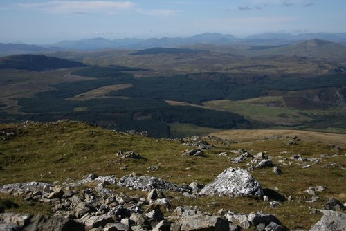 View north from the summit of Aran Benllyn, Aran Mountains