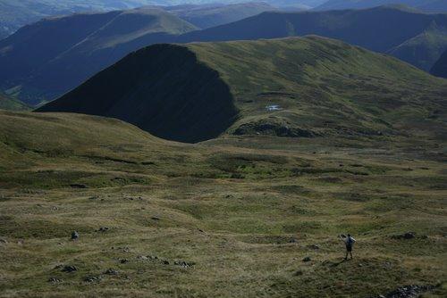Looking towards the summit of Gwaun y Llwyni, Aran Mountains