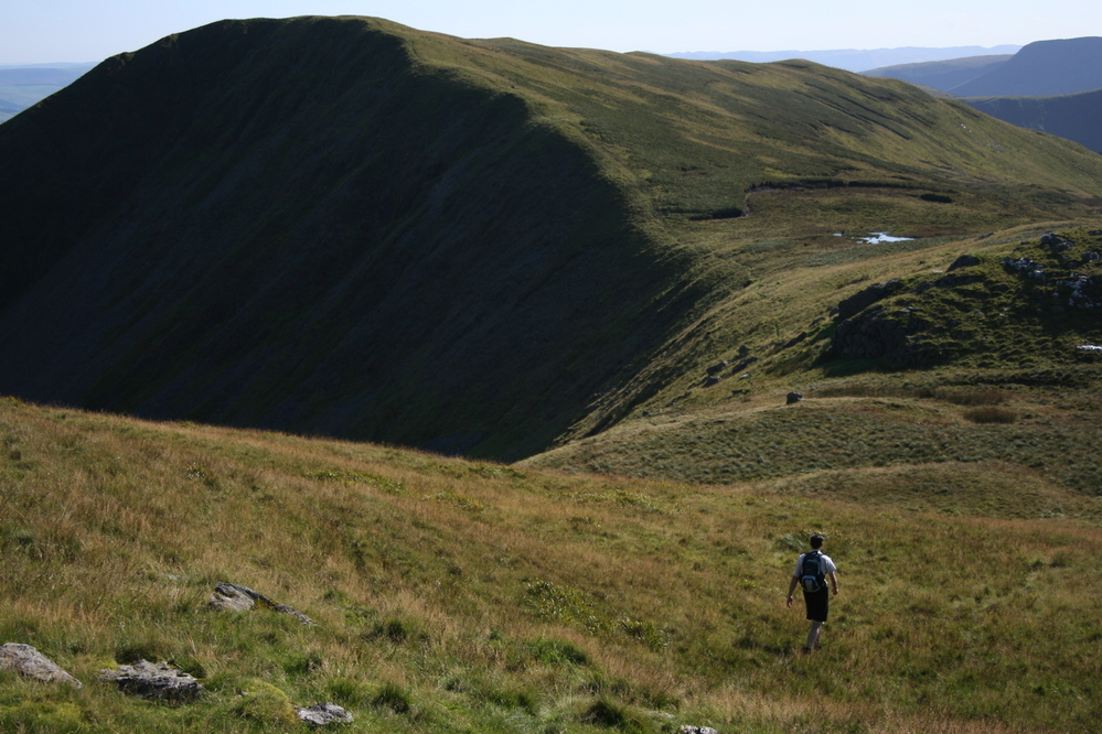 Looking towards the summit of Gwaun y Llwyni, Aran Mountains
