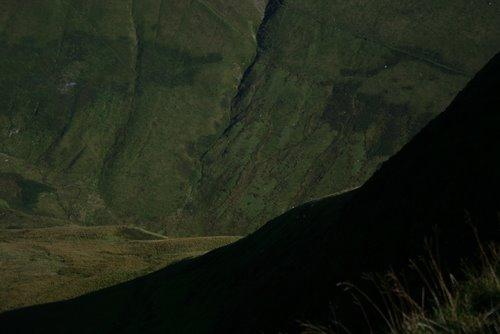 Hengwym from the ridge path to the summit of Gwaun y Llwyni, Aran Mountains