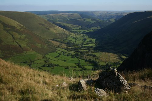 View to the valley of Cwm Cywarch, Aran Mountains