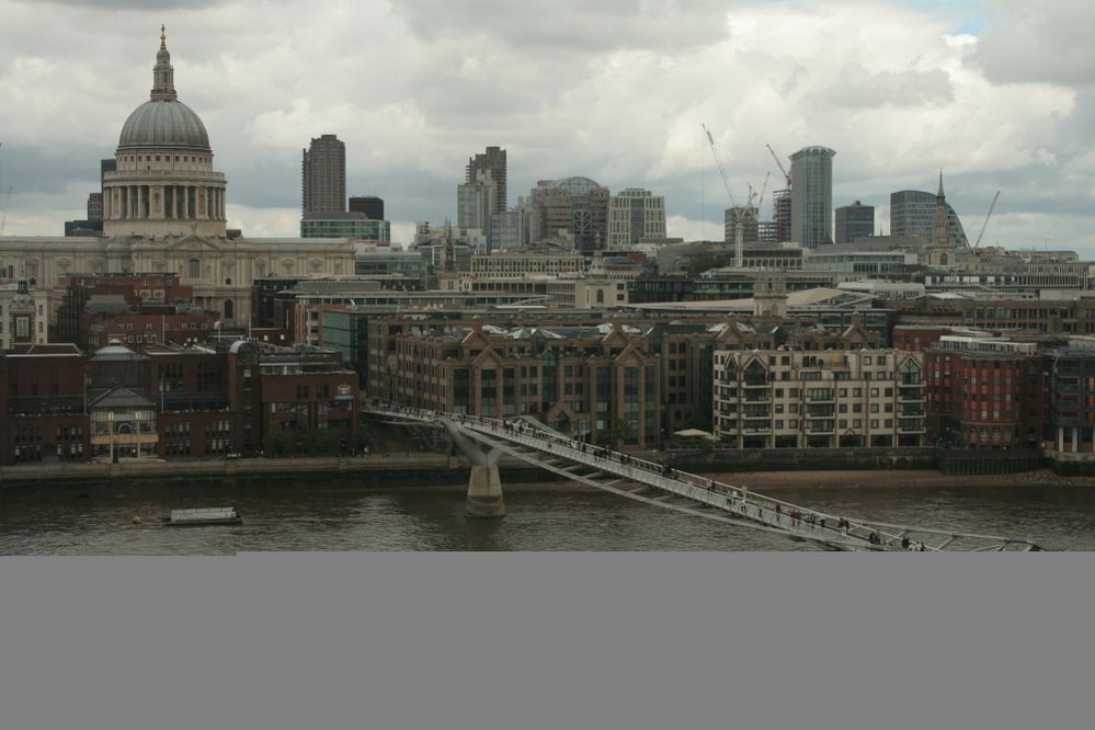 Thames and the City landscape, London