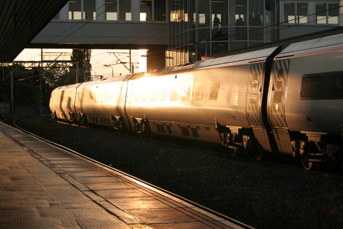 Intercity train at Wolverhampton station