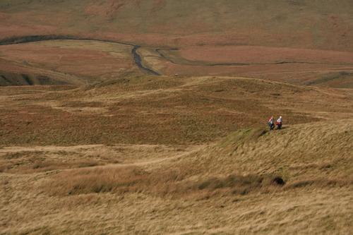 Climbing the slope of Pumlumon Fawr, Pumlumon Mountains