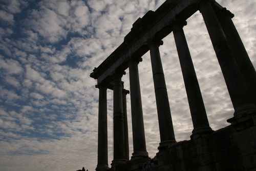 Temple of Saturn, Rome Forum, Rome, Italy