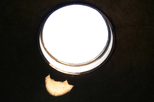 The 9 metre hole in the ceiling of the Pantheon, Rome, Italy