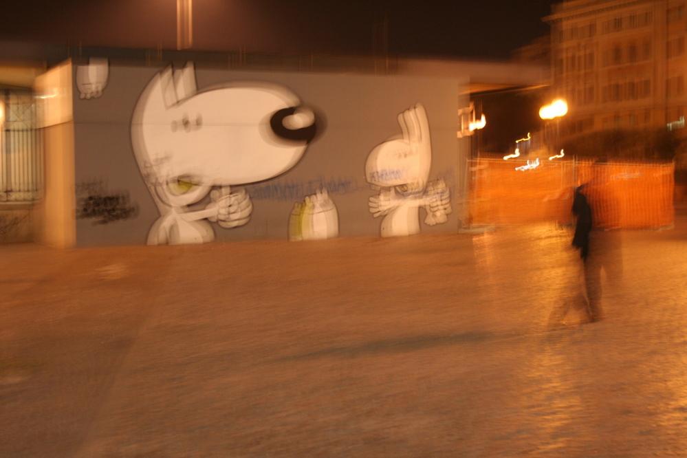 Graffiti, Termini station, Italy