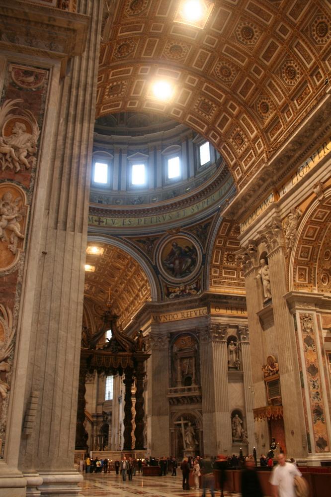 St. Peter's Basilica interior, Vatican City