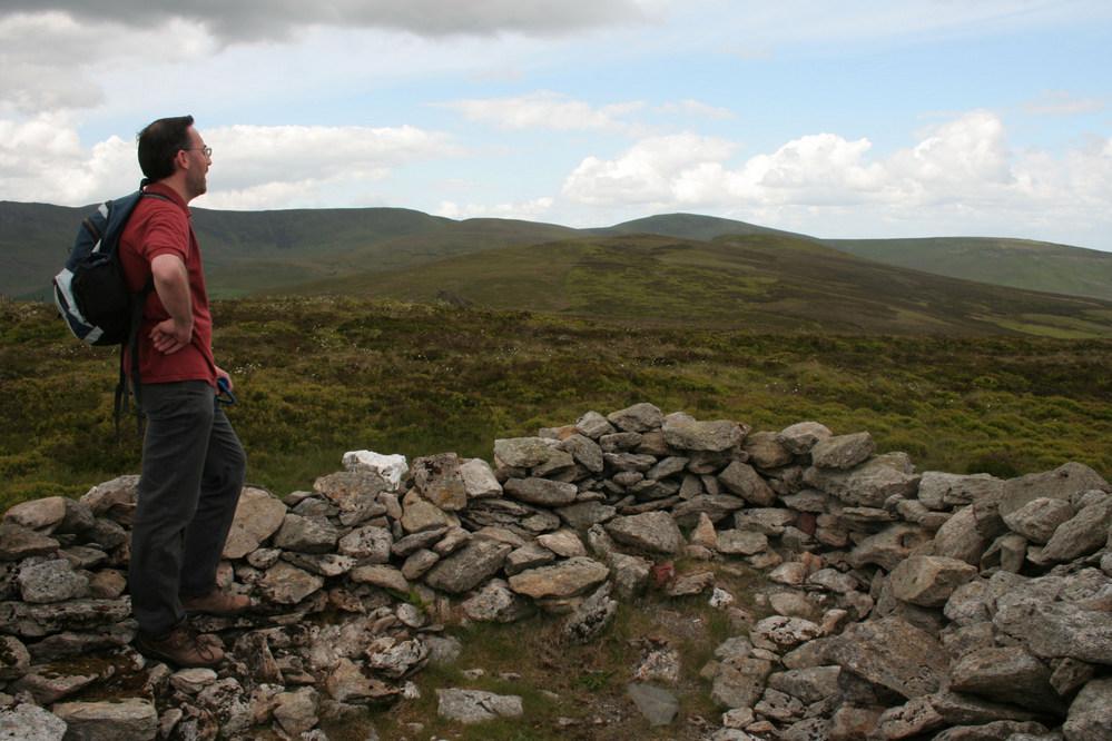Summit of Mynydd Tarw, Berwyn Mountains