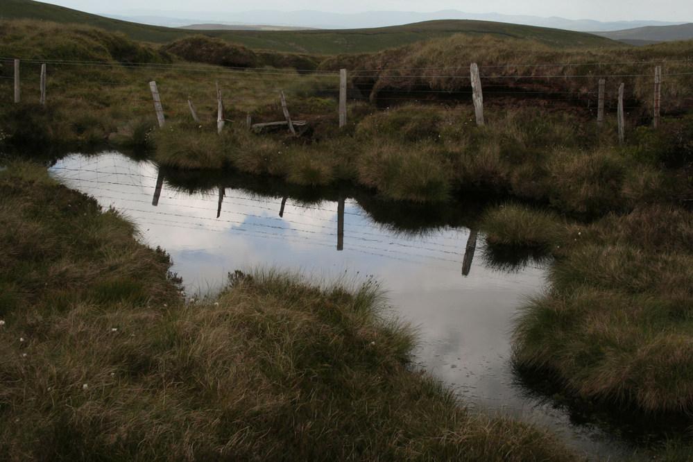 Pool near summit of Tomle, Berwyn Mountains