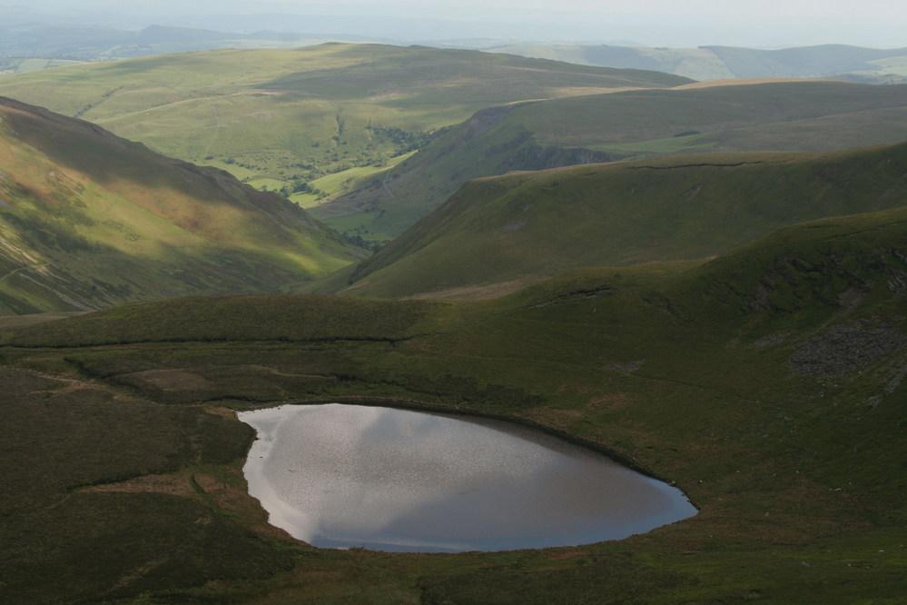 Llyn Lluncaws from Craig Berwyn, Berwyn Mountains