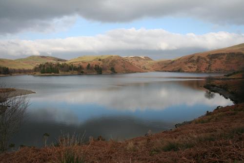 Llyn Clywedog near Llanidloes Wales