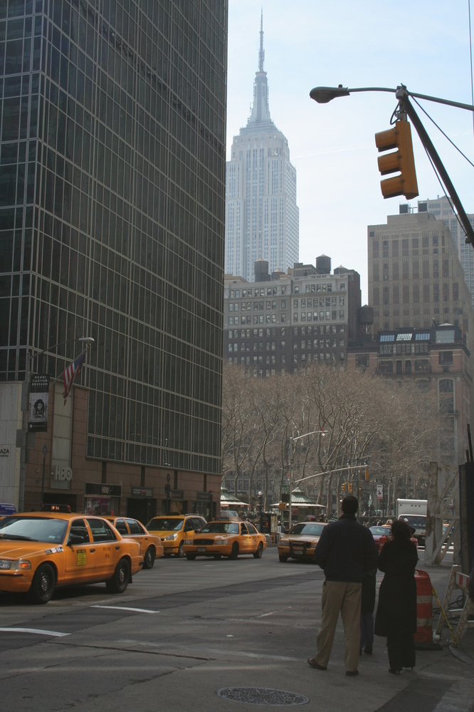 Empire State from Times Square, New York City