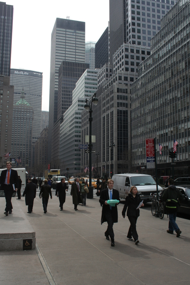 Park Avenue with Met Life building at end of street