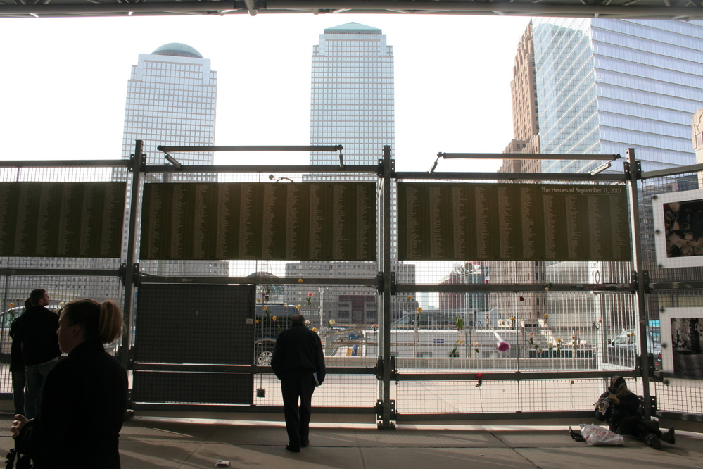 Ground Zero with list of victims