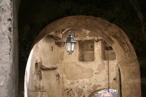 Sighisoara Romania, beneath the Clock Tower