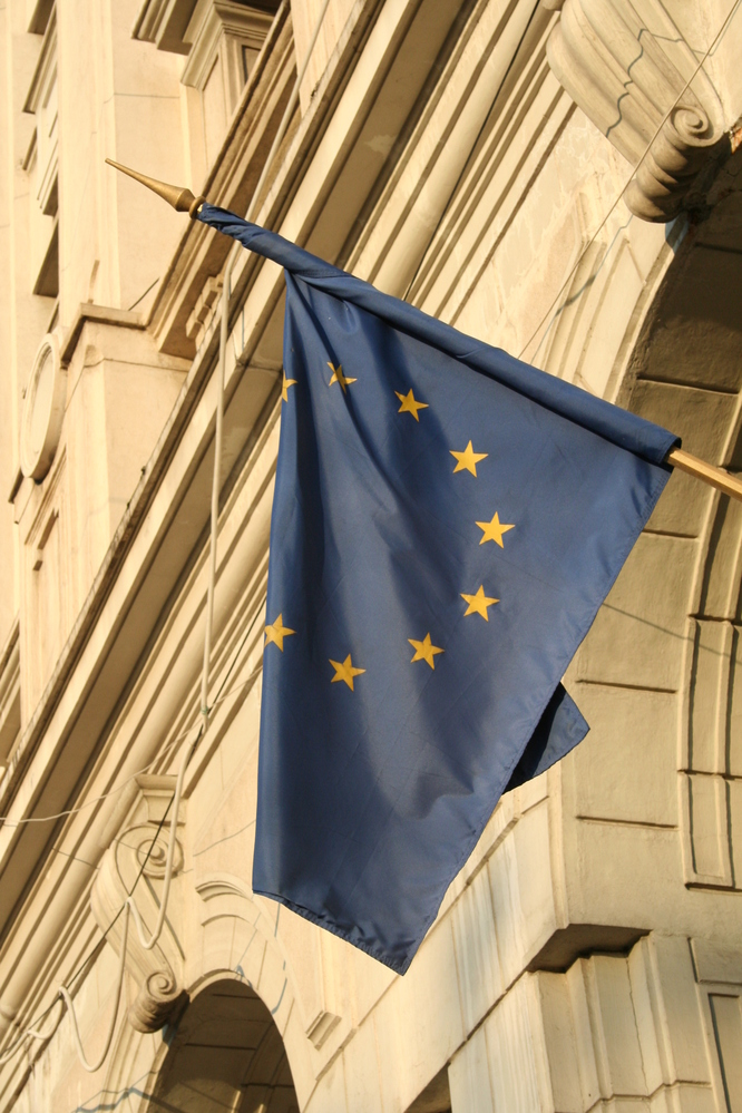 EU flag, Bucharest