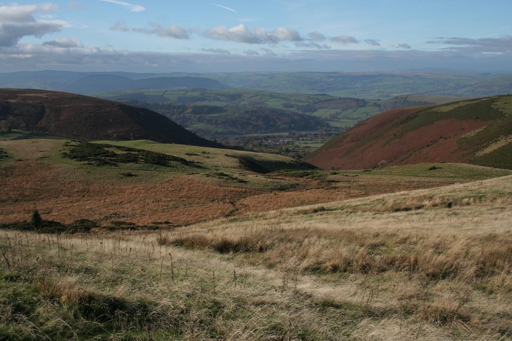Hills above Llandinam mid Wales