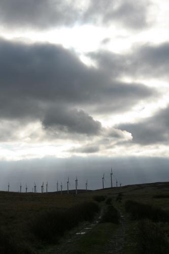 Llandinam wind farm mid Wales
