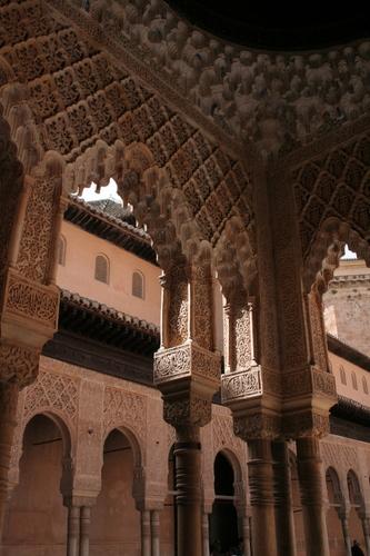 Alhambra, Granada Spain Patio de los Leones