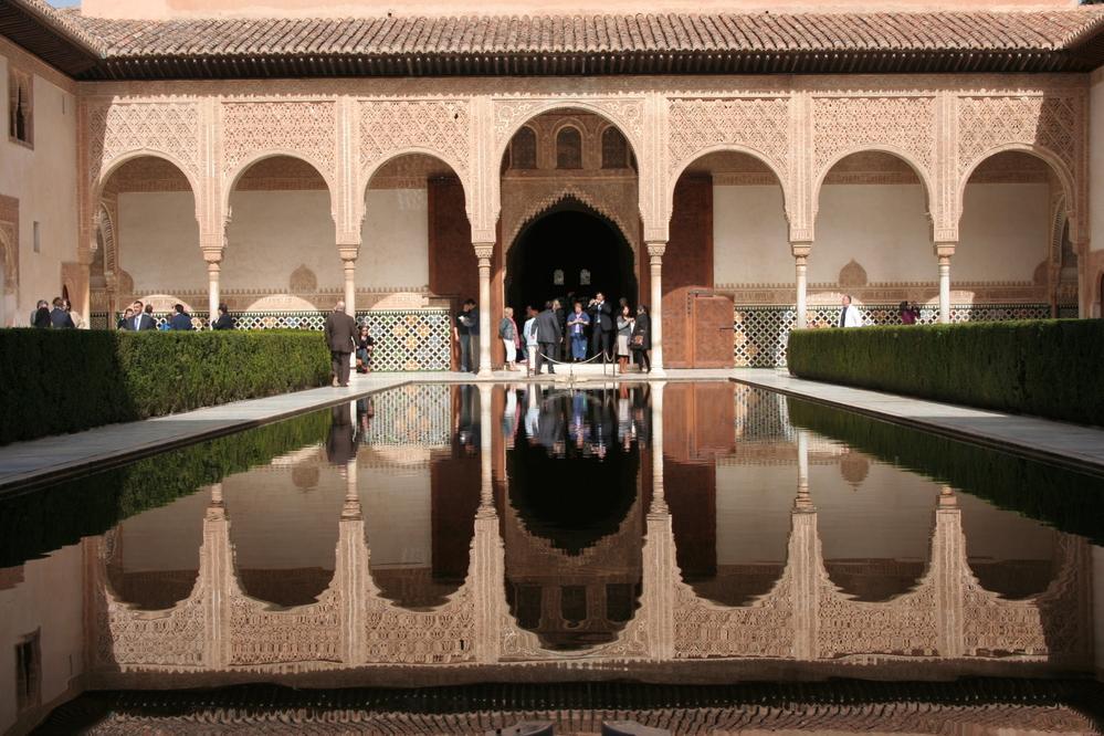 Alhambra, Granada Spain Patio de los Arrayanes