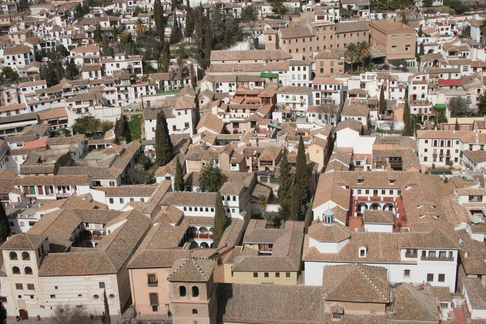 Alhambra, Granada Spain View of The Albaicin from Alhambra