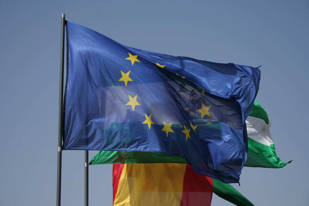 European Union Flag, Granada Spain