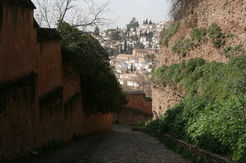 Alhambra, Granada Spain The path to the Albaicin