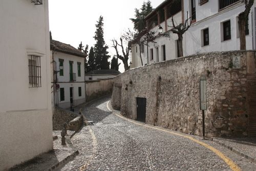 Alhambra, Granada Spain Road in the Albaicin