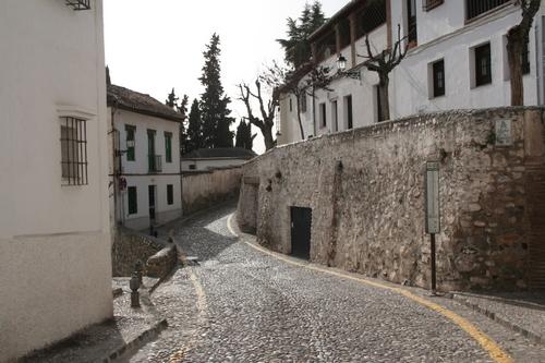 Alhambra, Granada Spain Road in the Albaicin