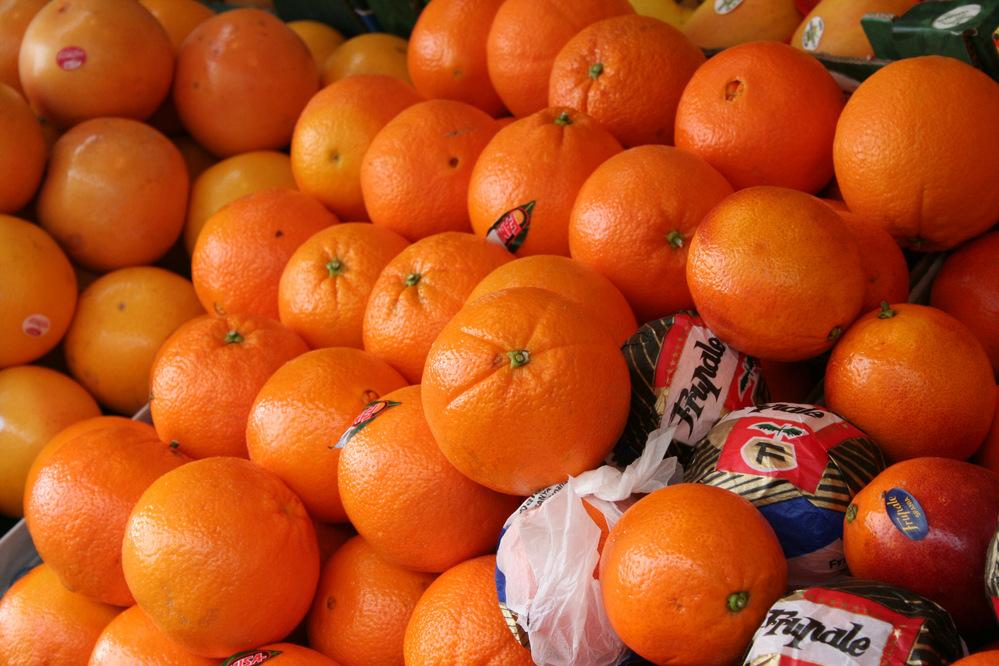 Oranges Paris market
