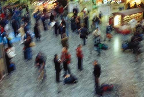 Euston station concourse London UK
