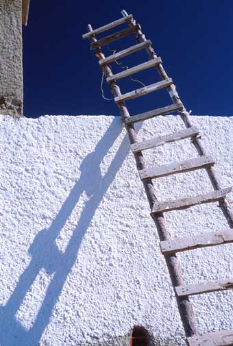Ladder and wall Near Palmela Portugal