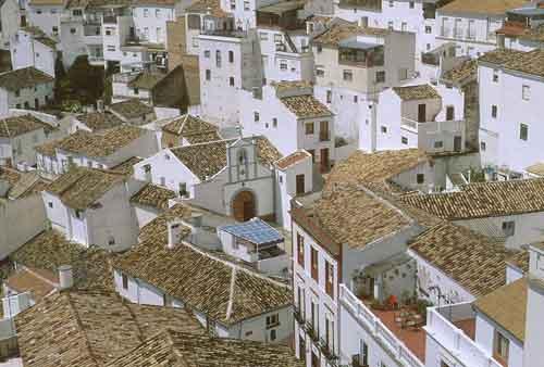Roof spaces Setenil Andalucia Spain